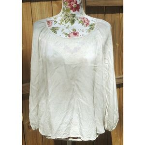 FOREVER 21 Cream Lace Blouse L